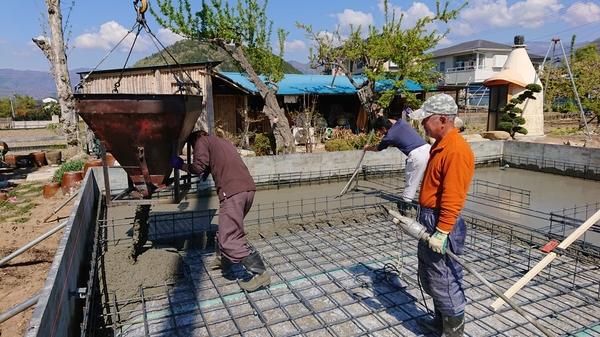 山梨県甲州市 塩山で新築工事!断熱基礎工事で床下冷気を防いでます!