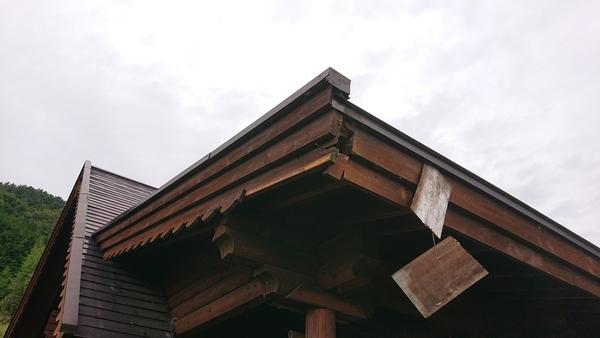 山梨市杣口のログハウス屋根修理